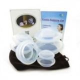 4 delig transparant silicone cups